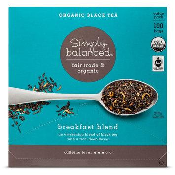 Breakfast Blend Organic Black Tea 100ct - Simply Balanced