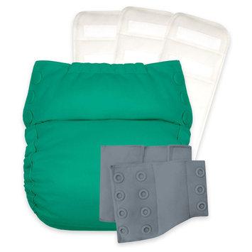 Flip Reusable Pull-on Diapers Dusk Green Opaque Graystone, Hummingbird, Armadillo