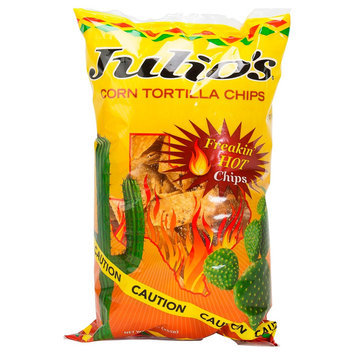 Julio's Freakin Hot Tortilla chips 9 oz