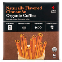 Naturally Flavored Cinnamon Organic Coffee Single Cups 16ct - Archer Farms