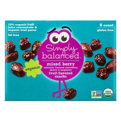 Simply Balanced &153; Mixed Berry Flavored Snacks Count of 5