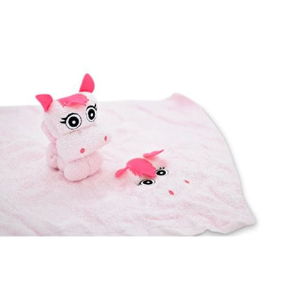 Couture Towel CT-SLPN001402 13 x 14 in. Princess Ponie Towel Daisy Pink