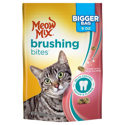 Meow Mix Brushing Bites with Real Salmon- 9oz