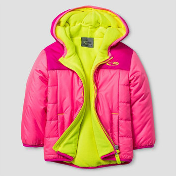 Baby Girls' Puffer Jackets with Hood - Pink 18M