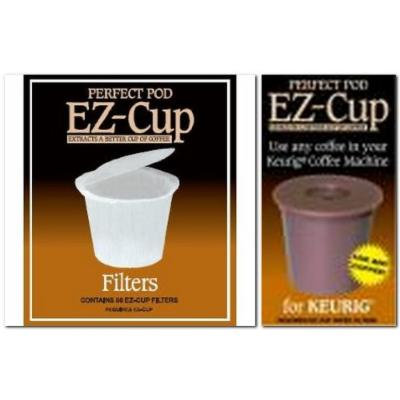 Ez-cup & Ez Cup Filters (55 Filters) Combo Pack for Keurig 1.0 Brewers By Perfect Pod