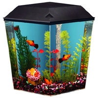 Top Fin® Aqua Scene 1 Gallon Desktop Aquarium Starter Kit, Black