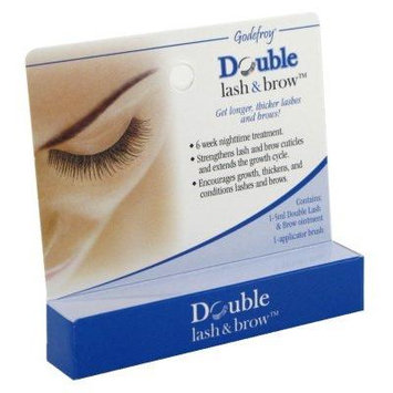 Godefroy Double Lash and Brow Treatment, for longer & thicker eyelash and eyebrows (5ml + applicator) (Pack of 6)