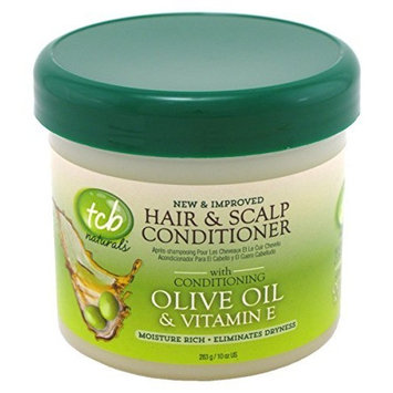 Tcb Naturals Hair & Scalp Cond Olive Oil 10oz. Jar (3 Pack) by Coordilife