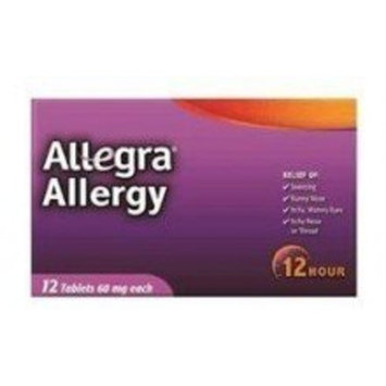 Allegra Adult 60Mg 12 Hour tablets 12-Count (Pack of 6)