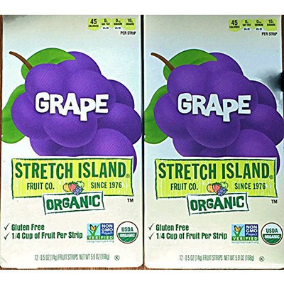 Stretch Island Organic Fruit Strips. 2-Pack, 24 strips total (Apple)