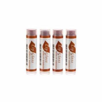 Beeswax Lip Gloss - 4 Pack (Merlot Shimmer)
