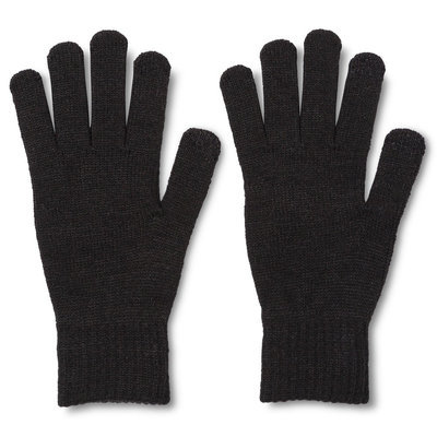 Men's Tech Touch Gloves Marled Gray One Size - Merona, Charcoal Heather