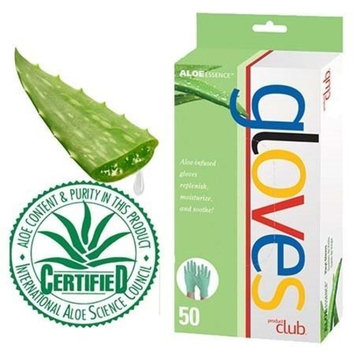Product Club Aloe Essence Powder-Free Latex Gloves 50ct - Medium