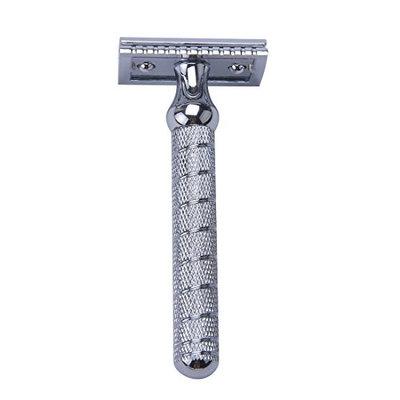 CSB Barber Pole Shaving Beard Razor Double Edge Razor with Chrome Handle