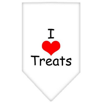 Ahi I Heart Treats Screen Print Bandana White Large