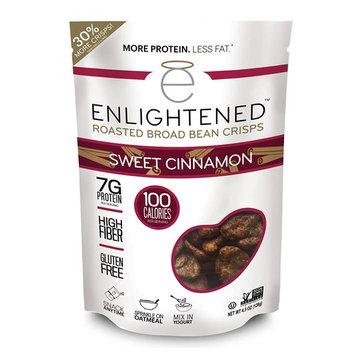 Enlightened Roasted Broad Bean Crisps - Sweet Cinnamon 3 OZ/6-Pack