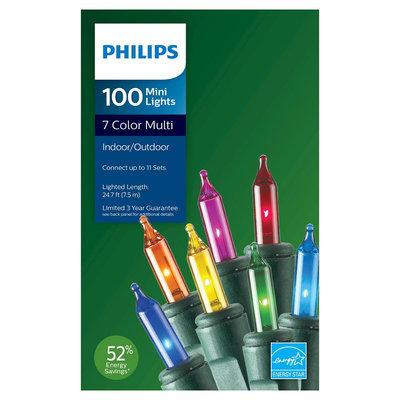 Philips 100ct Multicolored Mini String Lights, Multi-Colored