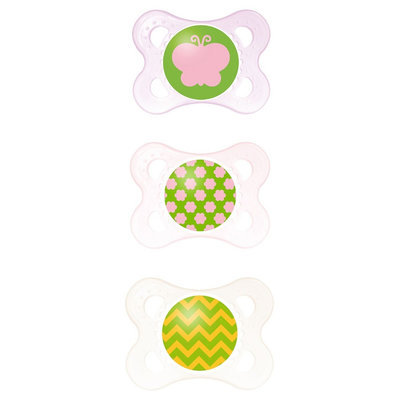 Mam Clear Orthodontic Pacifier, 0-6 Months, 3-Count