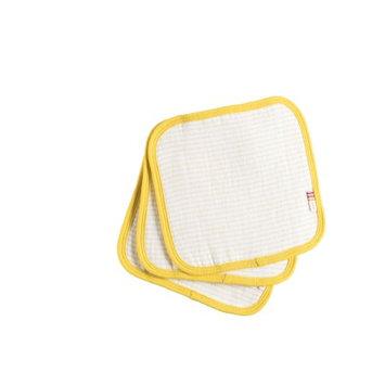 Sapphire giggle Organic Striped Wash Cloth Set of 3 - Confetti