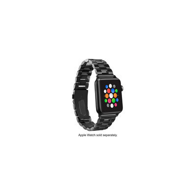 Platinum - Chain Link Band For Apple Watch 42mm - Black