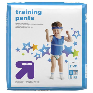 up & up Boy Training Pants Jumbo Pack - 2T-3T (26 Count)