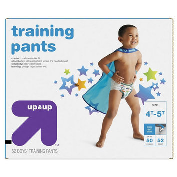 up & up Boy Diapers, Giga Pack - Size 4T-5T (52 Count)