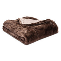 Throw Blanket Faux Fur - Threshold, Brown