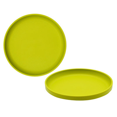 Big Kid's Round Salad Plate 9.6in Plastic Lime Green - Pillowfort