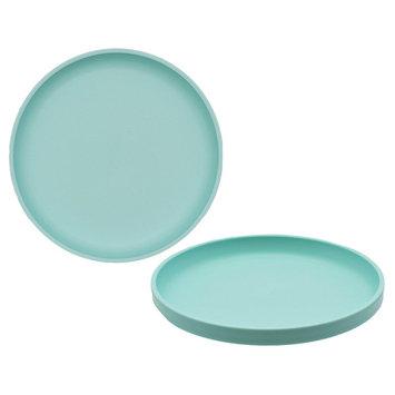 Big Kid's Round Salad Plate 9.6in Plastic Sea Foam Green - Pillowfort, Lime Green