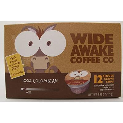 Wide Awake Coffee Single serve cups for Keurig K-Cup Brewers, 100% Colombian, 12-count (Pack of 3)