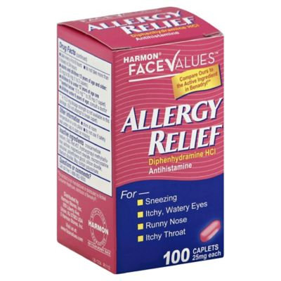 Harmon® Face Values™ 100-Count Allergy Relief Caplets