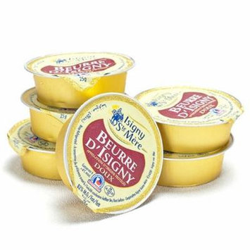 Unsalted Isigny Butter in Ceramic Container - 48 x 1 oz unsalted butter refills