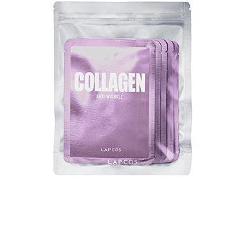 LAPCOS Daily Skin Facial Sheet Mask 5 Pack - Collagen Anti-Wrinkle