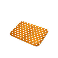 Kashi Home Polka Dots Microfiber Rug 16x24 ORANGE