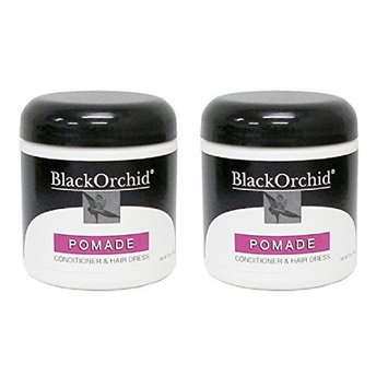 Black Orchid Pomade Conditioner and Hair Dress, 7 Oz (Pack of 2) + FREE Eyebrow Razor, 3 Ct.