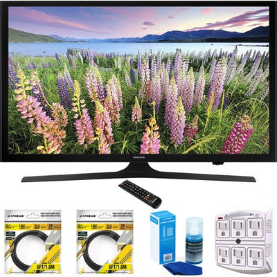 Samsung 50-Inch Full HD 1080p LED HDTV 2015 Model UN50J5000 with Cleaning Bundle