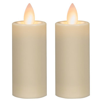 Mirage Battery Operated Candle Set, Ivory