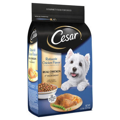 Cesar® Rotisserie Chicken Flavor Gourmet Food for Dogs 5 lb Bag