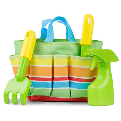 Melissa & Doug Sunny Patch Giddy Buggy Toy Gardening Tote Set With Tools, Multi-Colored