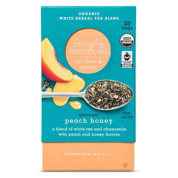 Peach Honey Organic White Herbal Tea Blend 20ct - Simply Balanced