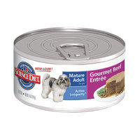 Hills Pet Nutrition Science Diet Gourmet Beef Mature Small Dog Food