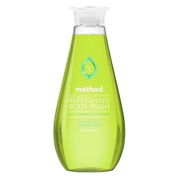 method refreshing gel body wash green tea + aloe