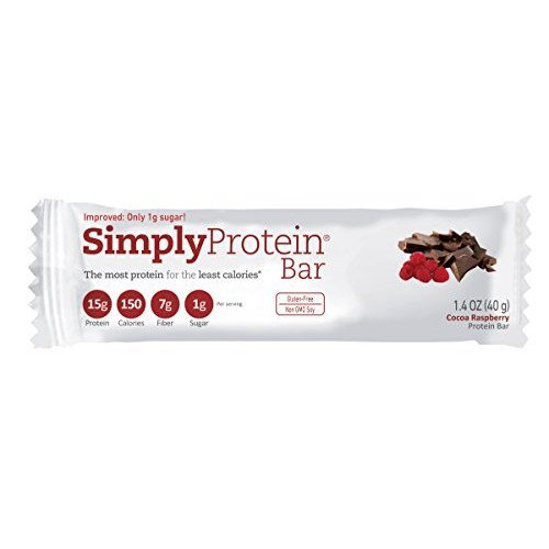 Simply Protein Bar, Cocoa Raspberry, GF and Vegan, 1.4 Ounce (Pack of 15)