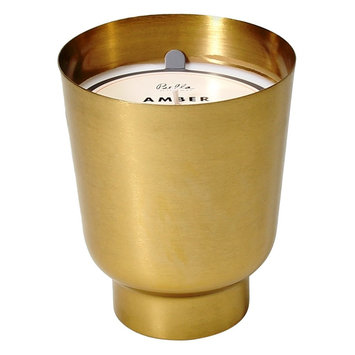 Bella Metal Container Candle - Amber Vetiver, Grey
