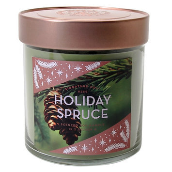Signature Soy Candle Holiday Spruce - 15.2oz, Green