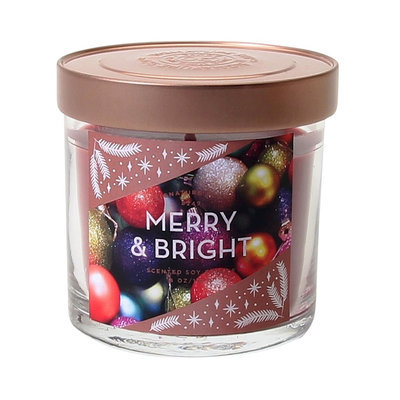 Signature Soy Candle Merry & Bright - 4 oz, Red
