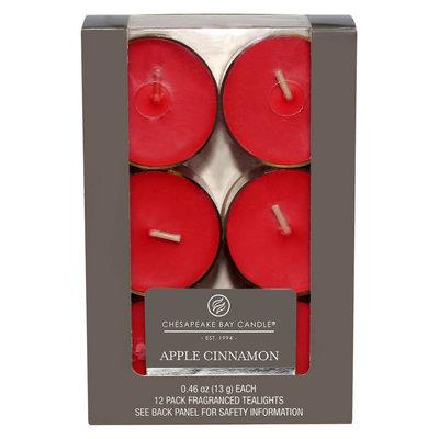 Beats Chesapeake Bay Candle Apple Cinnamon Tealight 12pk, Red