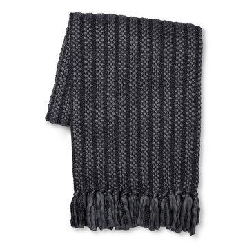 Throw Blanket Faux Fur - Threshold, Grey