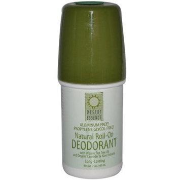 Desert Essence Natural Roll-On Deodorant -- 2 oz