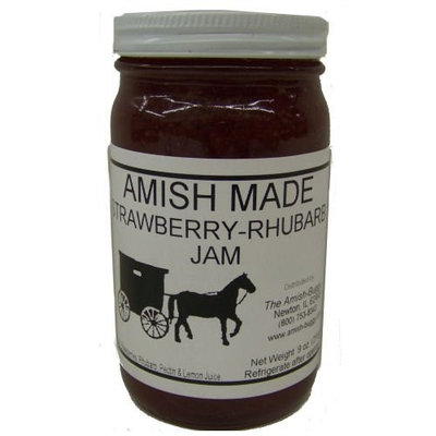 Amish Jam Strawberries - 8 Oz Set of Three Jars [Strawberry]